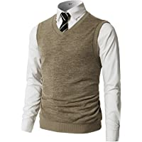 282224b693 H2H Mens Casual Slim Fit Pullover Sweaters Vest Knitted V-Neck Thermal  Basic Designed