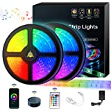 Tira LED 10M Tira de Luz WiFi Controlada por Teléfono Inteligente Tira de Luces LED RGB 5050/ 32.8 ft con Temporizador Trabaj