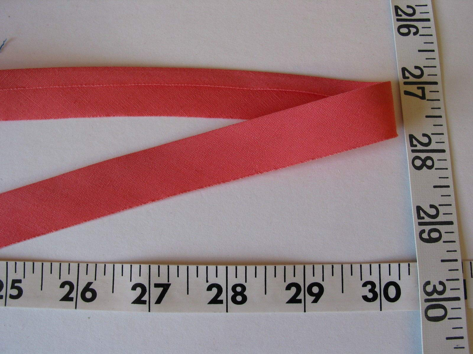 Bias Binding Tape Poly Cotton Deep Peach 3/4 One Fold 225 Yd Roll by Gonling