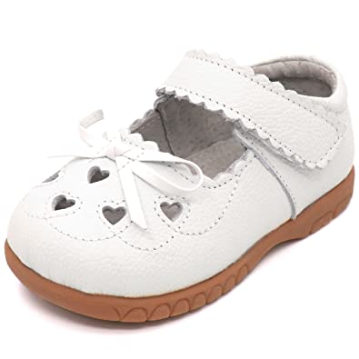 Amazon.com: Femizee Mary Jane - Zapatos planos de piel con ...