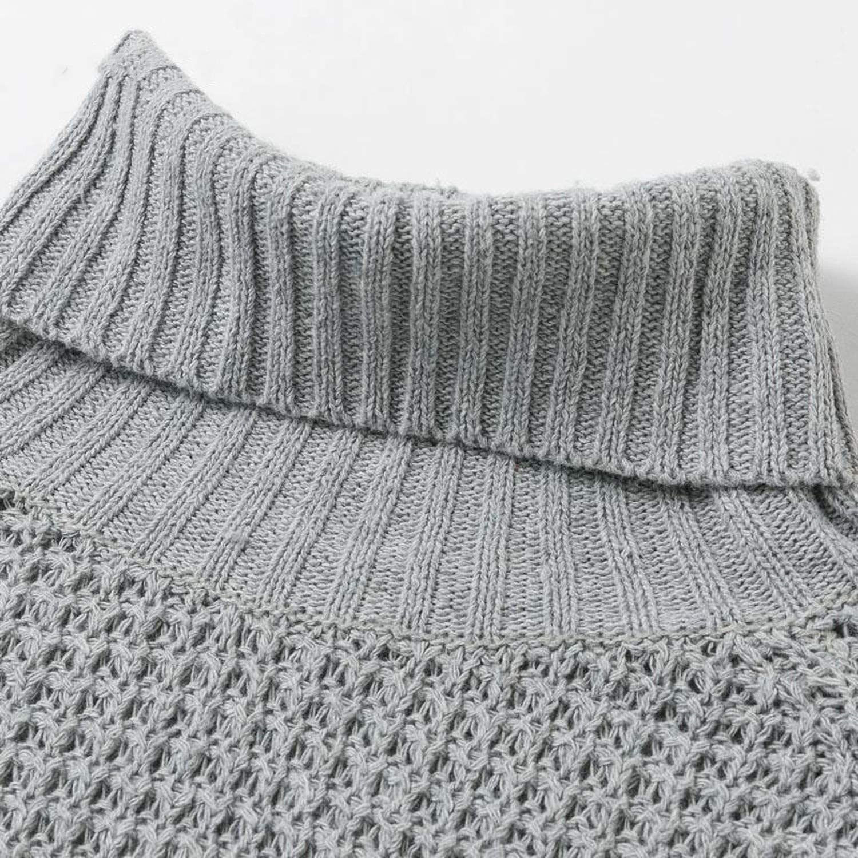 Autumn Half Sleeve Turtleneck Knitted Pullover Women Soft Winter High Split Sweater Jumper Ladies Femenino Jumpers