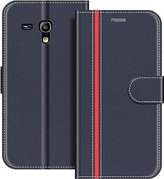 COODIO Funda Samsung Galaxy S3 Mini con Tapa, Funda Movil Samsung S3 Mini, Funda Libro Galaxy S3 Mini Carcasa Magnético Funda para Samsung Galaxy S3 Mini, Azul Oscuro/Rojo: Amazon.es: Electrónica