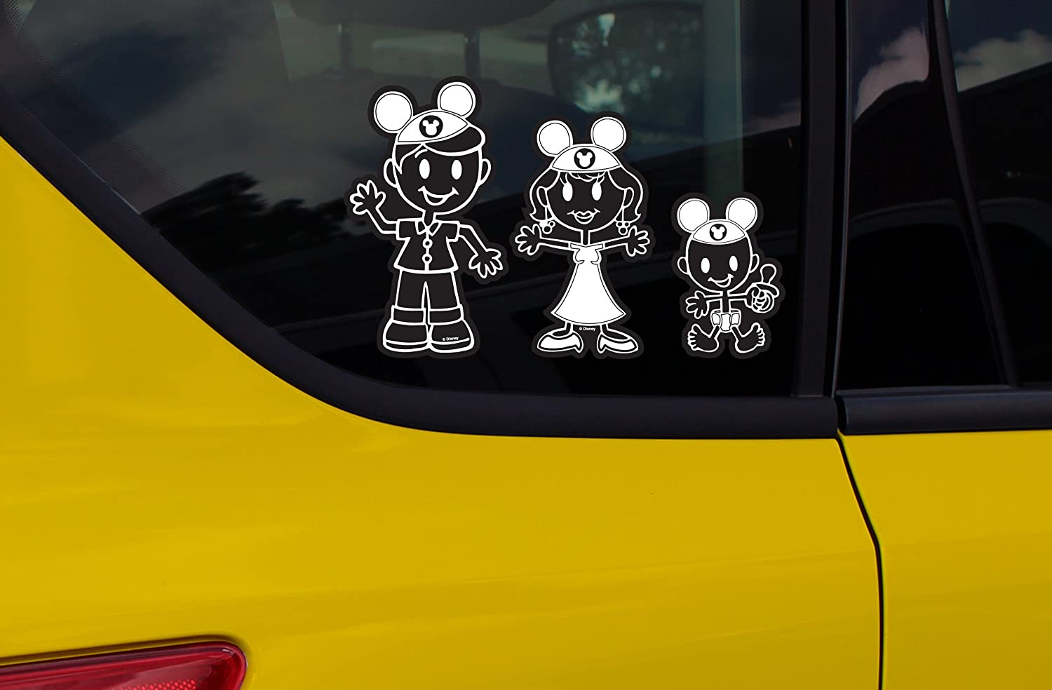 Amazon com chroma 5381 mickey mouse ears family decal kit automotive