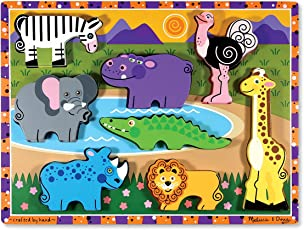 Melissa & Doug Rompecabezas grande de madera - Animales de safari
