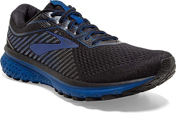 Brooks Ghost 12 - Zapatillas de correr para hombre, (Negro/Azul Verdadero/Negro), 45 EU: Amazon.es: Zapatos y complementos