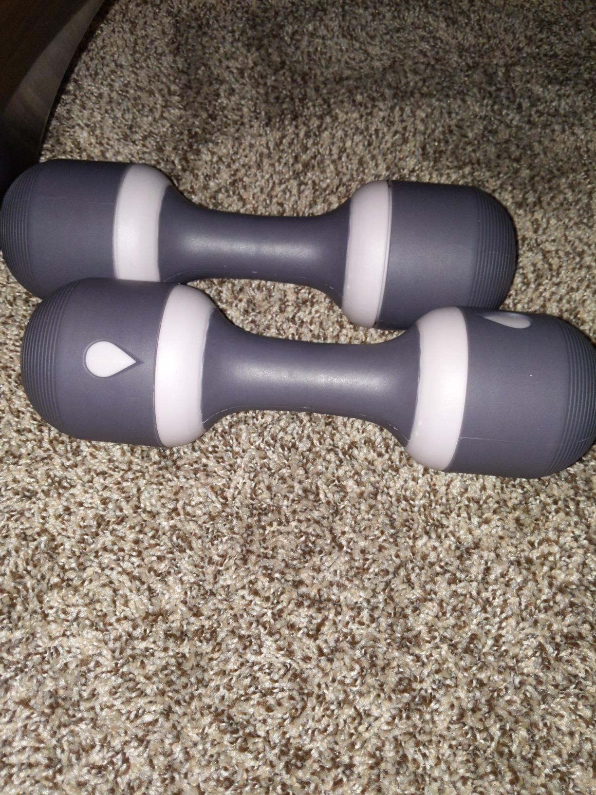 Nice C Adjustable Dumbbell Weight Pair, 5-in-1 Weight Options, Non-Slip Neoprene Hand, All-Purpose, Home, Gym, Office photo review