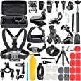 Neewer 58-In-1 Action Camera Accessory Kit Compatible with GoPro Hero 9 8 Max 7 6 5 4 Black GoPro 2018 Session Fusion Silver White Insta360 DJI AKASO APEMAN Campark SJCAM Action Camera etc