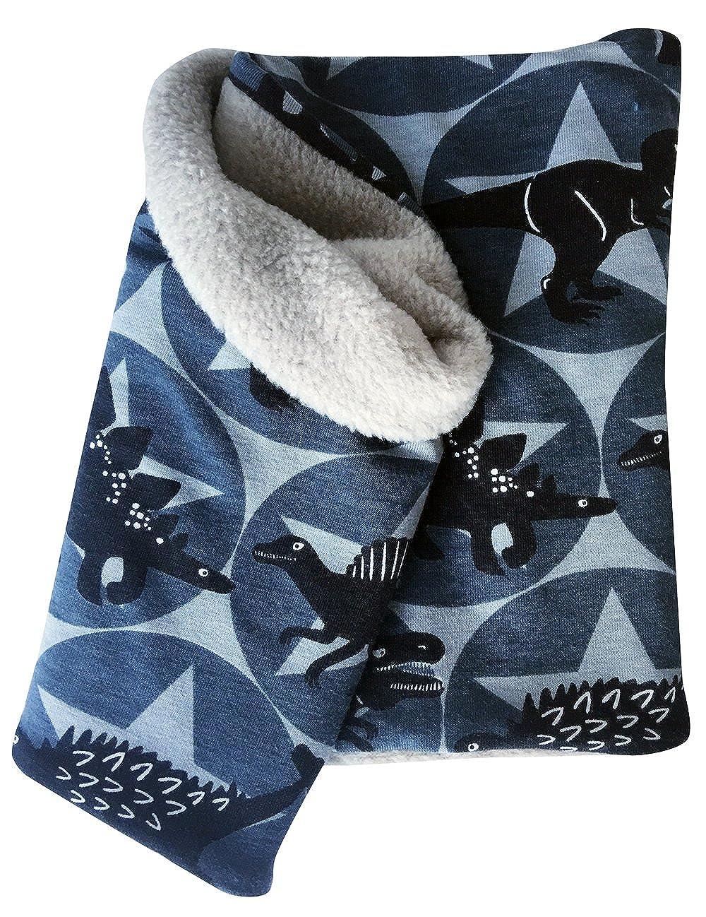 Wollhuhn Warmes Halstuch, Schlupfschal, Schal mit coolen Dinos und Sternen für Jungen und Mädchen, Innenseite aus Fleece, 20170115