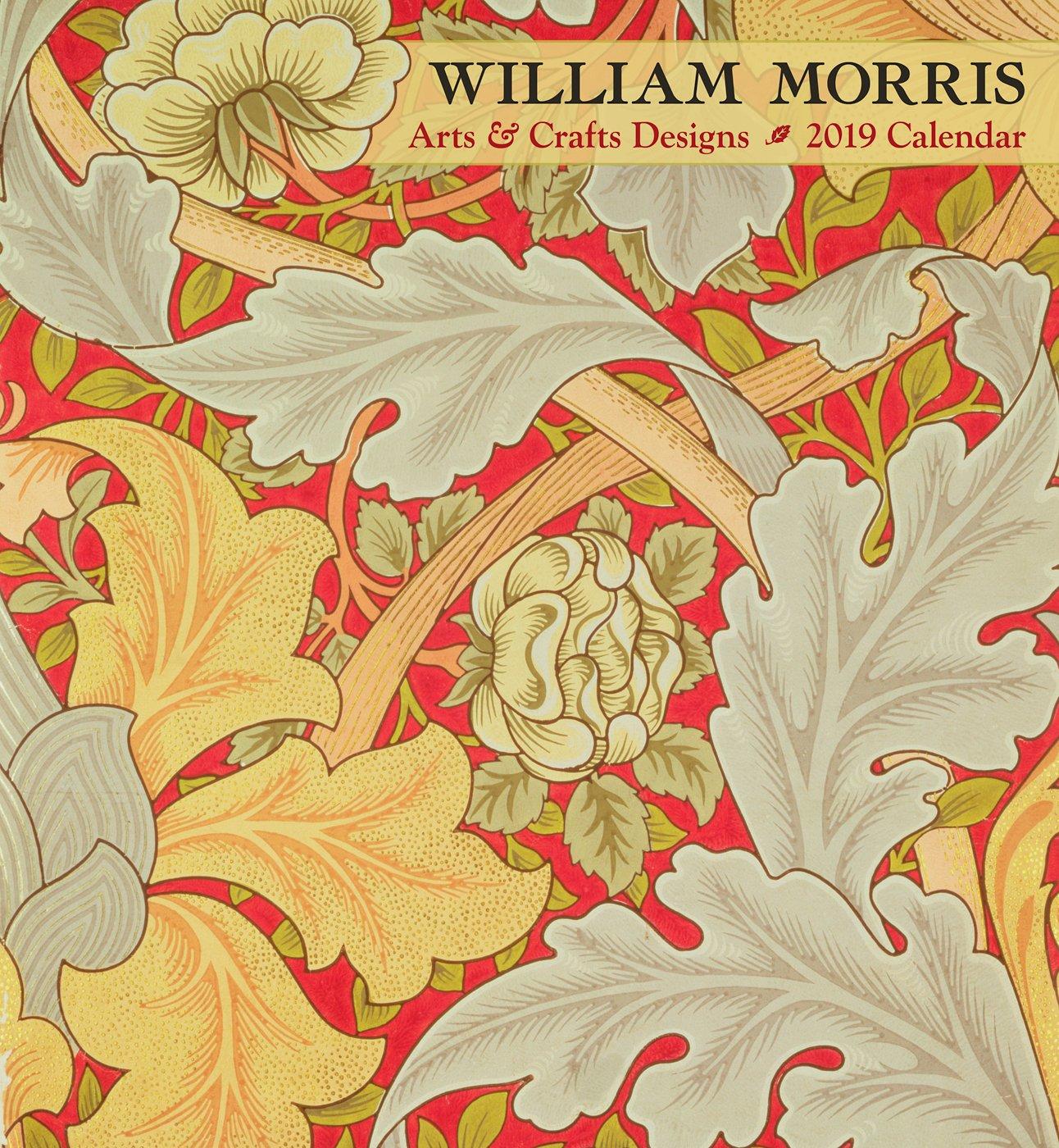 William Morris Arts Crafts Designs 2019 Wall Calendar