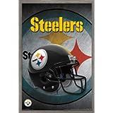 Trends International NFL Pittsburgh Steelers - Helmet 16 Wall Poster, 14.725' x 22.375', Barnwood Framed Version