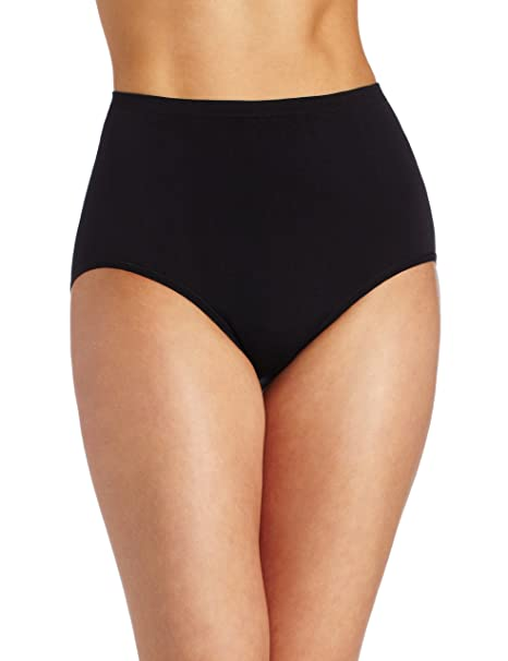 438df69b96fa Vanity Fair Women's Plus Size Seamless Strata Brief Panty 13210, Midnight  Black, Large/