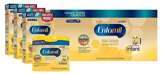 Enfamil Infant Baby Formula - 121.8oz Powder Combo Pack