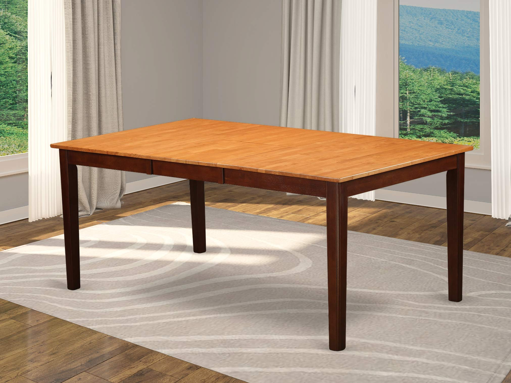 East West Furniture HET-CAP-T Rectangular Dining Room Table with 18-Inch Butterfly Leaf by East West Furniture