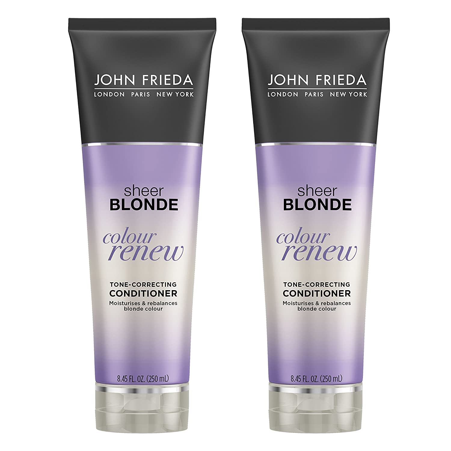 John Frieda Sheer Blonde Color Renew Purple Conditioner Tone Correcting Conditioner Helps Moisturize And Rebalance Blonde Color 8 45 Ounce 2 Pack Standard Hair Conditioners Beauty