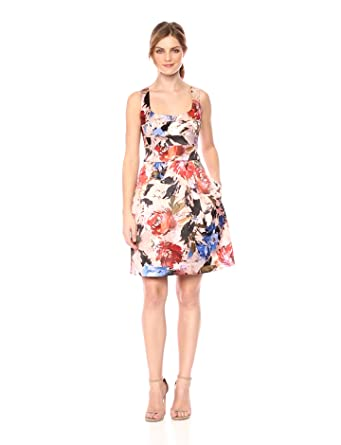 Nicole Miller New York Women\'s Printed Fit and Flare Cocktail Dress ...