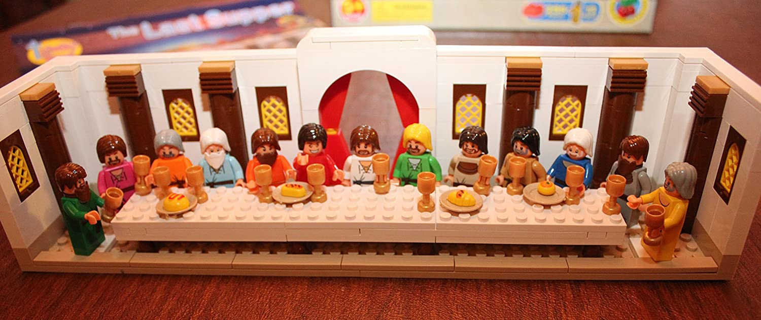 amazon com trinity toyz the last supper building blocks set 38010