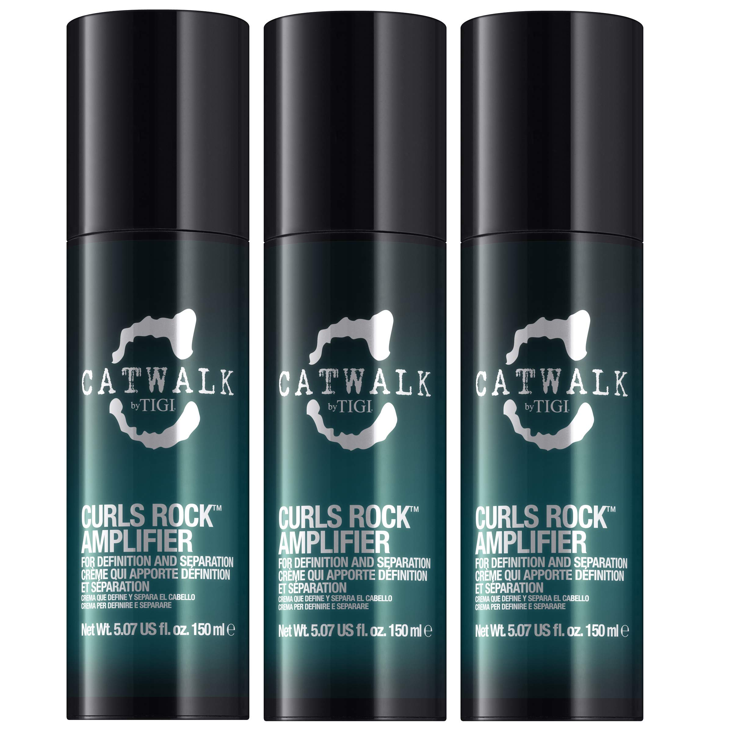 TIGI Catwalk Curls Rock Amplifier Curly Hair Cream 150 ml Pack of 3