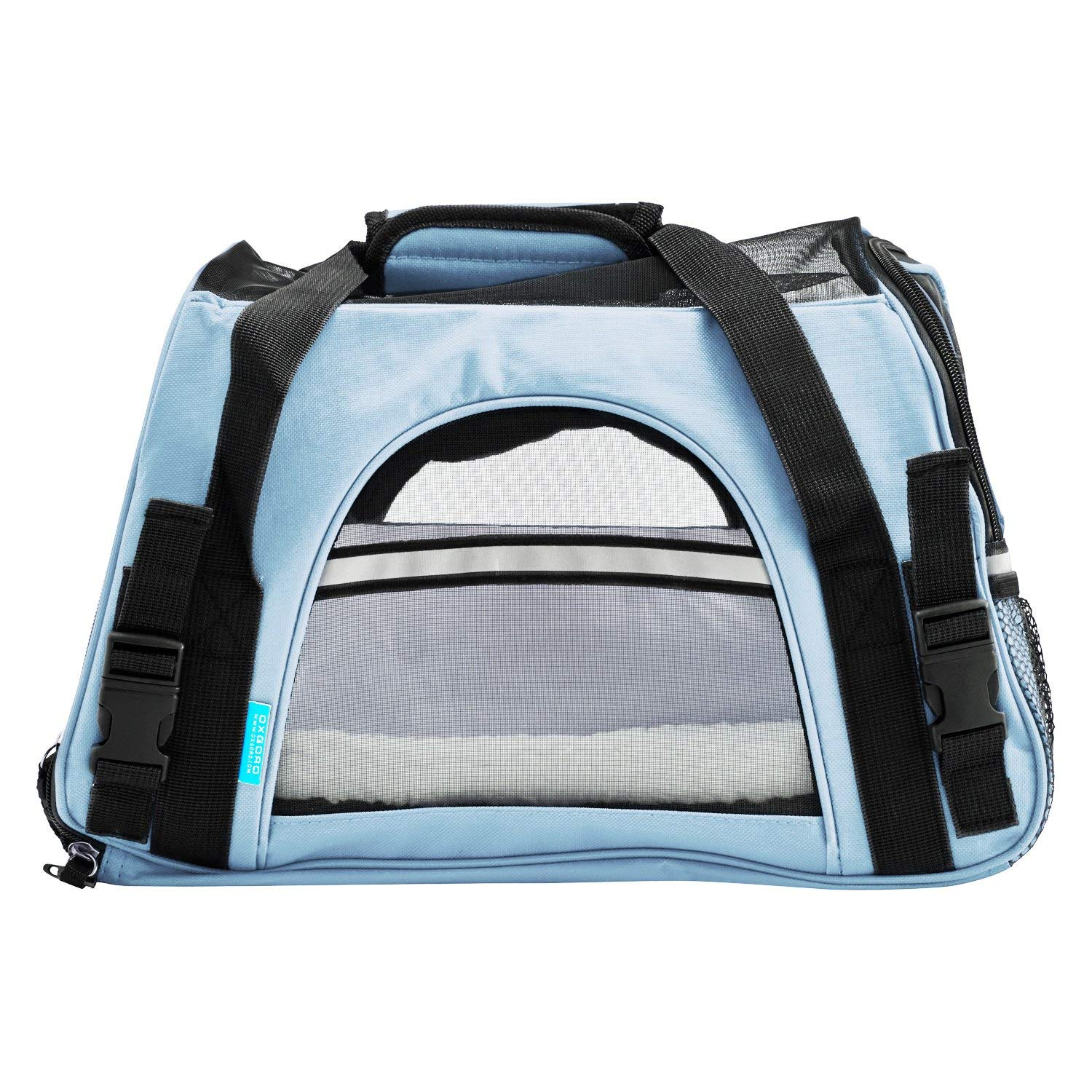 Small Soft Sided Kennel Spinach Green 2016 Newly Designed Model OxGord Airline Approved Pet Carriers w//Fleece Bed For Dog /& Cat