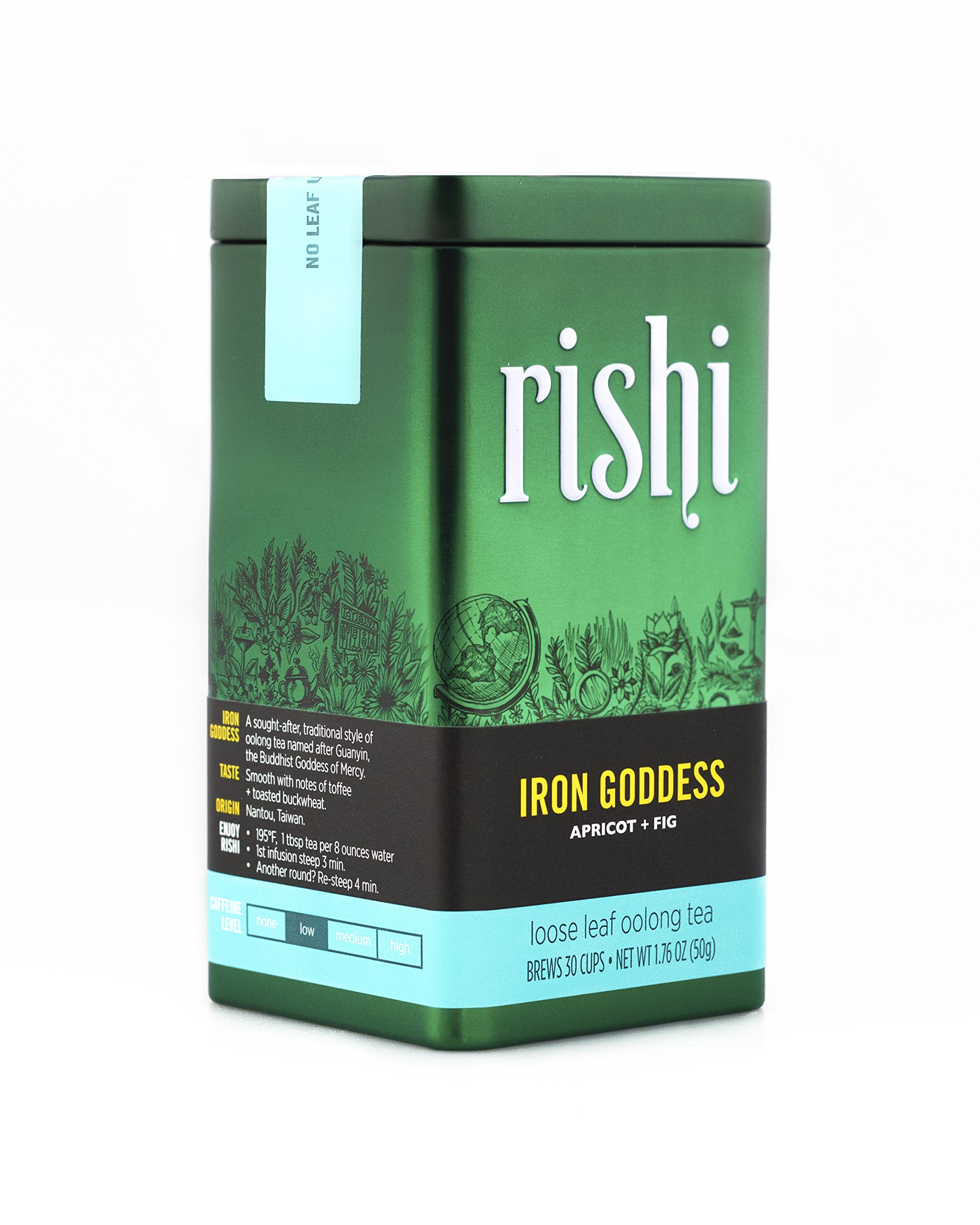 Rishi Tea Iron Goddess of Mercy Loose Leaf Tea, 1.76 Ounces Tin