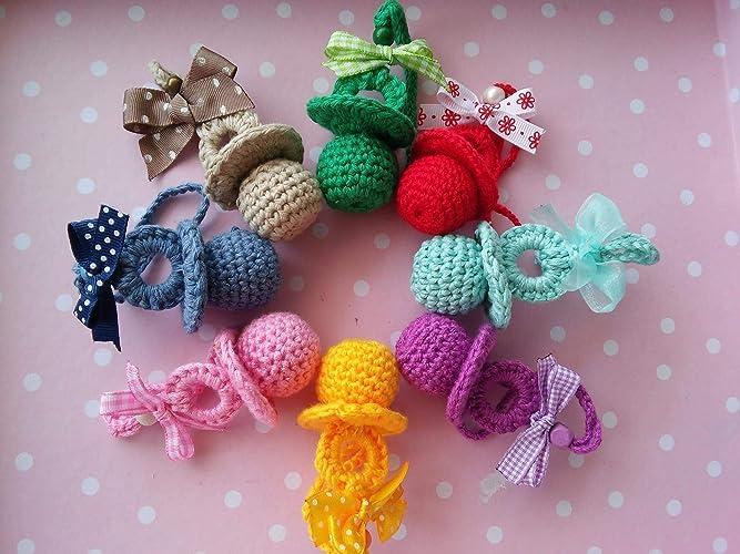 Chupete a crochet.