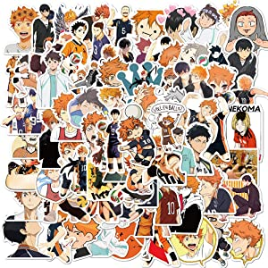 ViiYii Anime Haikyuu Stickers, 100 Pcs Vinyl Stickers for Hydro Flask Water Bottle, Computer MacBook Skateboard Laptop Stickers Pack, Cute Waterproof Decal Stickers