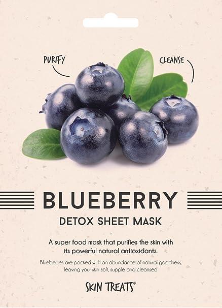 Tratamientos para la piel: 2 unidades de mascarilla para la cara de Blueberry Detox,
