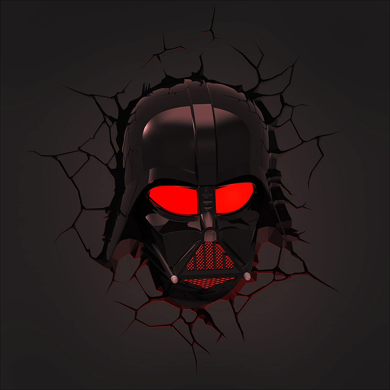 Star Wars Darth Vader 3D Wall Light With Remote Control Star Wars ...