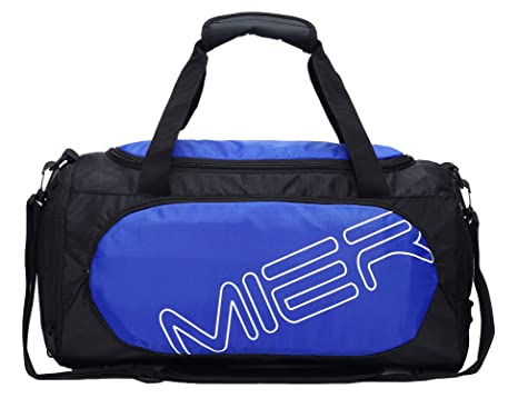 6eb8bbb0de7 Image Unavailable. Image not available for. Color  MIER Small Gym Sports Bag  for Men and Women with Shoes Compartment, 18inch(blue