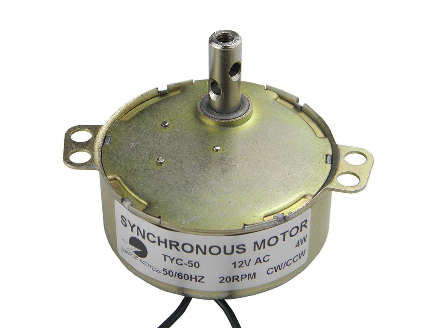 CHANCS Synchronous Motor TYC-50 12V Electric Motor AC 20-24RPM CW/CCW 4W CHANCS MOTOR