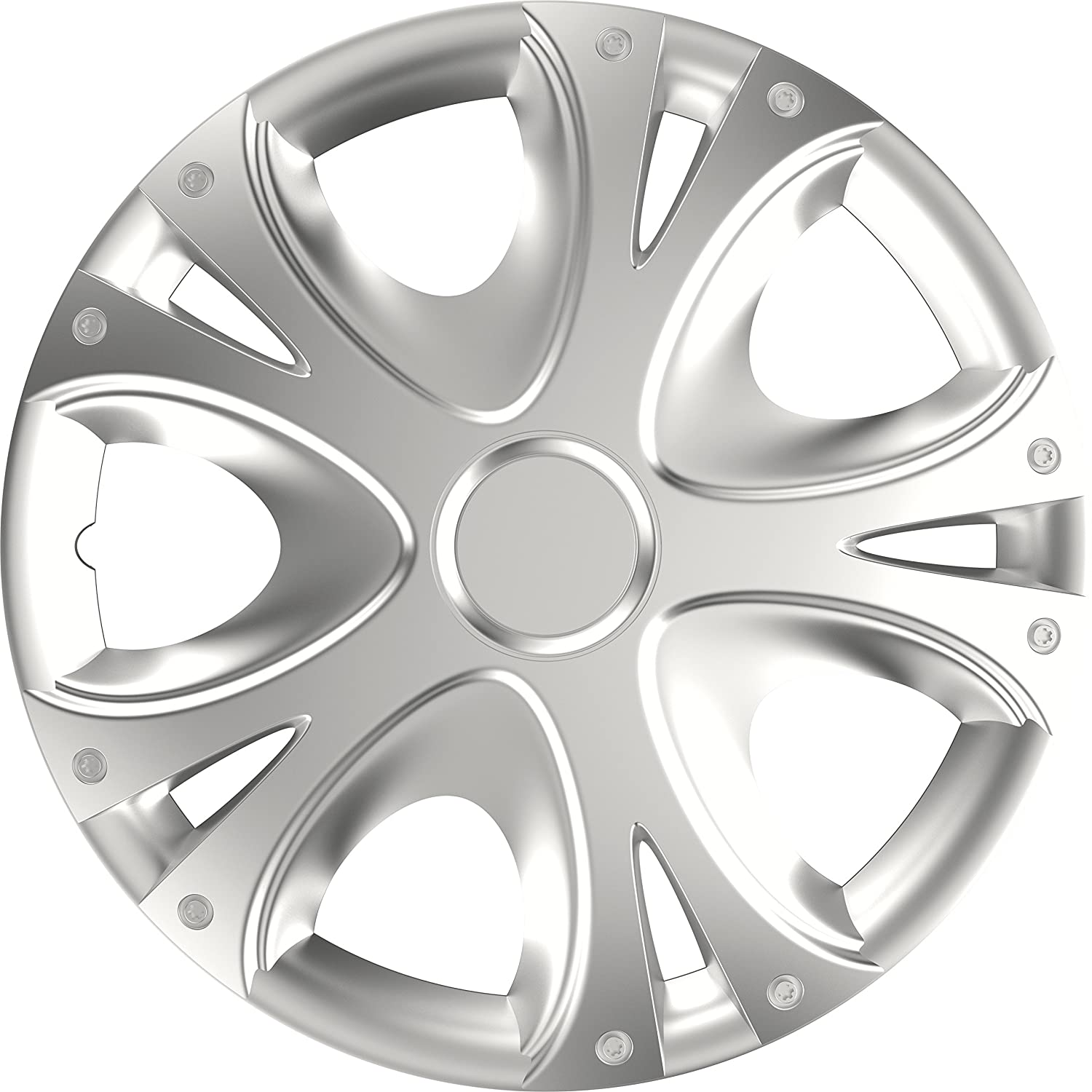 Versaco RAPIDENCBS15 Wheel Trims Universal Fit for Cars and Other Vehicles 15 Inch Rapide Silver Black