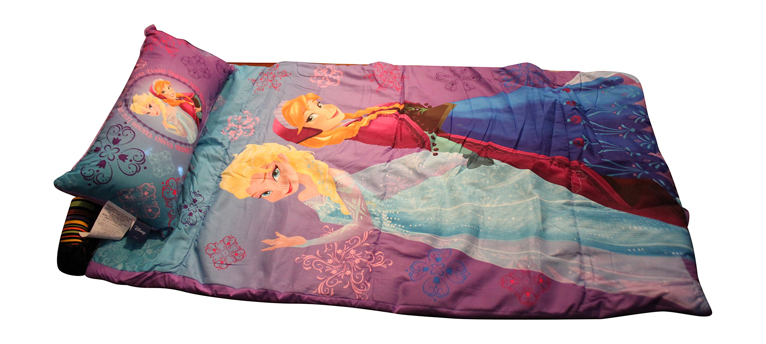 Disney Frozen Anna and Elsa Slumber Bag with Pillow and Bonus Reusable Storage Bin