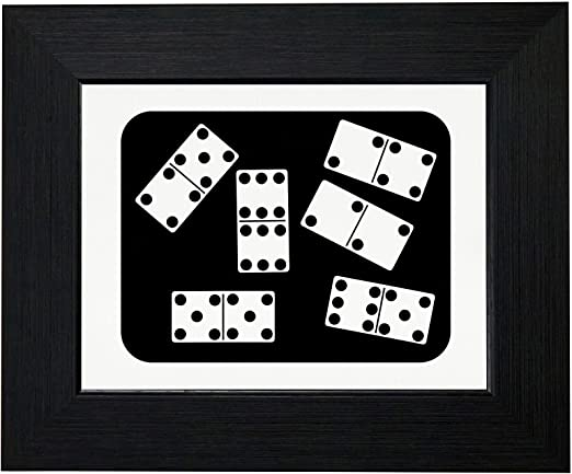 Amazon Com Royal Prints Dominoes On Domino Table Ready To Play A Game Framed Print Poster Wall Or Desk Mount Options Posters Prints