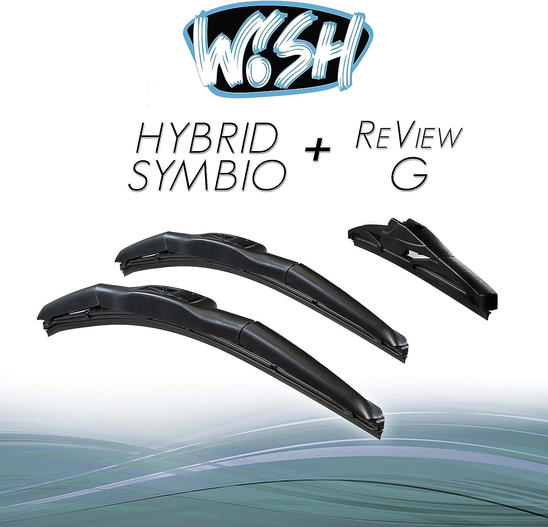 Wish Hybrid Symbio Satz Front Heck Scheibenwischer Länge 26 650mm 18 450mm 12 300mm Wischblätter Vorne Und Hinten Hybrid Scheibenwischer Review G Hs26 18 12rg Auto