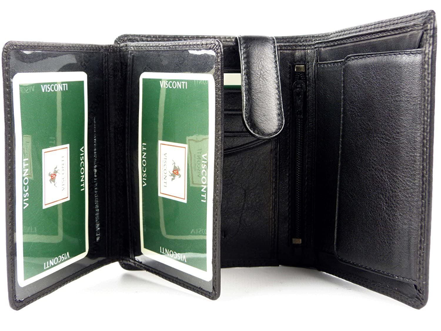 Visconti heritage-11 Soft Thin ID de fotos de piel (Quad Fold Wallets: Amazon.es: Ropa y accesorios