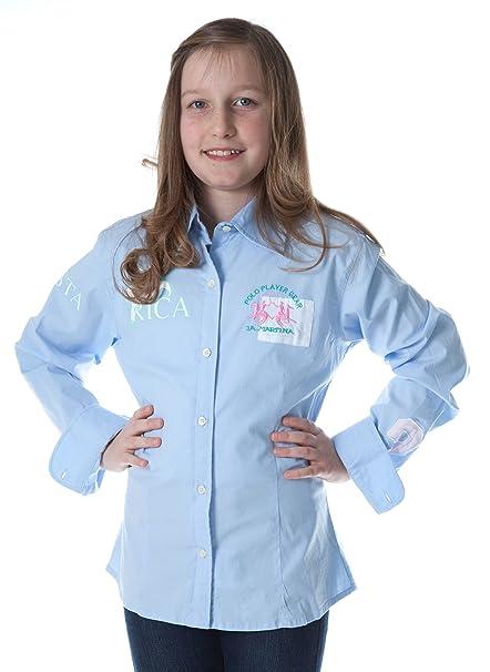 La Martina niña Blusa Rosa Azul Claro G90 rosa hellblau 14 años