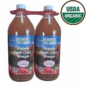 Vermont Village Raw Organic Apple Cider Vinegar, 2 pk./32 oz. (pack of 2)