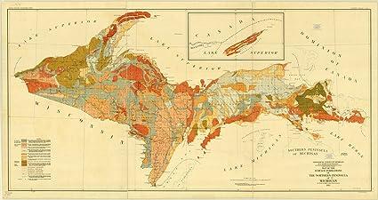 Amazon Com Historic Map Upper Peninsula Michigan 1911 Map Of