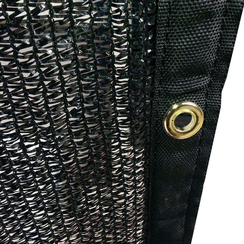 Sun Shade 10 x 14 10/' x 14/' Xtarps FJYW MN17-MS50-B1014   50/% Shade Cloth Shade Fabric Sail Black Color