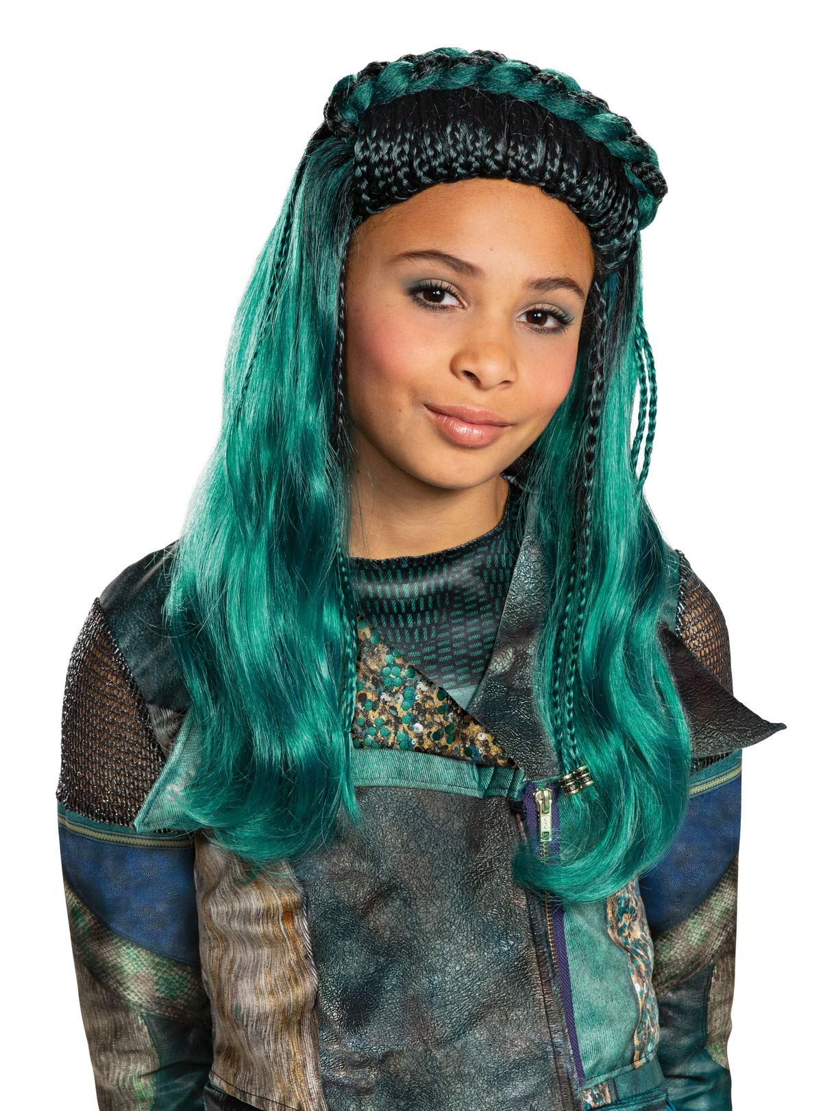 Descendants 3 Uma Wig Costume Accessory Teal