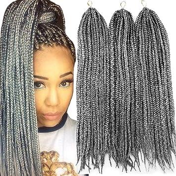 Amazon.com : VRHOT 6Packs 18\'\' Box Braids Crochet Hair Small ...