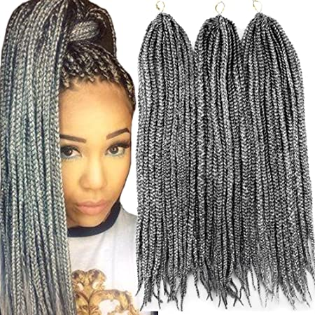 Amazon Com Vrhot 6packs 18 Box Braids Crochet Hair Small