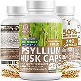 Premium Psyllium Husk Capsules [All Natural & Potent] - Powerful Soluble Fiber Supplement Helps Support Regularity…