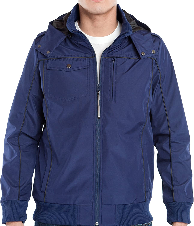 GREAT JACKET - BLUE BAUBAX Men's Multi Pocket Travel Bomber Jacket SMALL