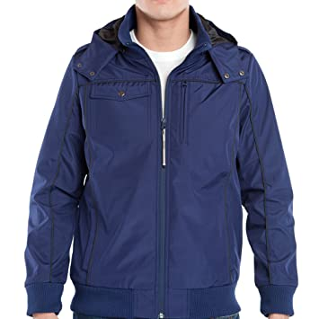 b8ff5d4d Baubax Men's Bomber Travel Jacket, Blue, Large