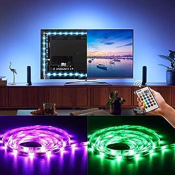 BASON LED Strip, Stromversorgung über USB TV Hintergrundbeleuchtung, Led  Lichterkette, Für TV/Flachbildschirm/Wandhalterung Kino Dekoration LED  Beleuchtung ...