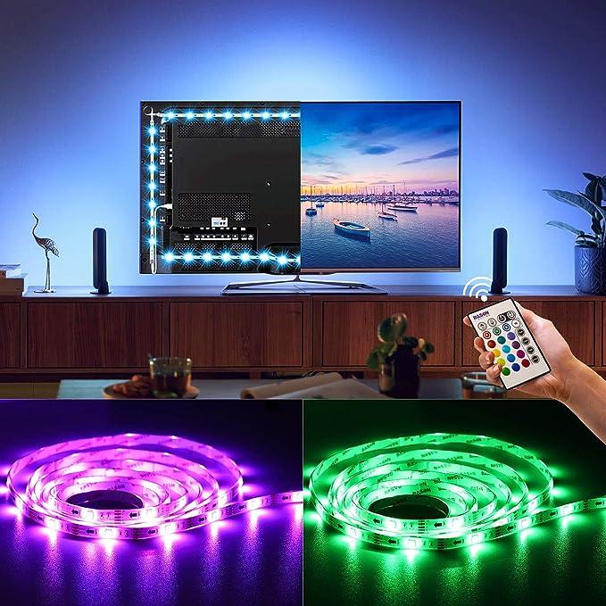 BASON LED Strip, Stromversorgung über USB TV Hintergrundbeleuchtung, Led Lichterkette, für TV/Flachbildschirm/Wandhalterung K