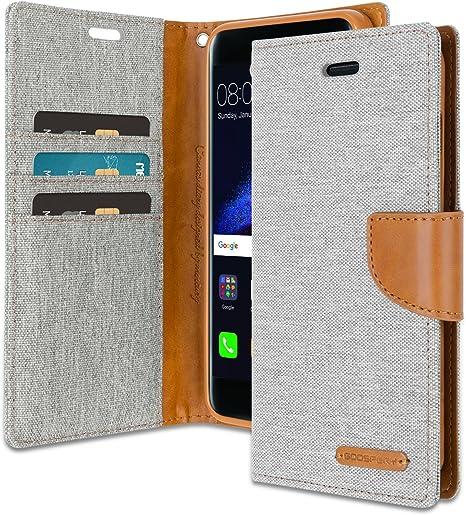 Goospery Canvas Wallet for Huawei P8 Lite 2017 Case Denim Stand ...