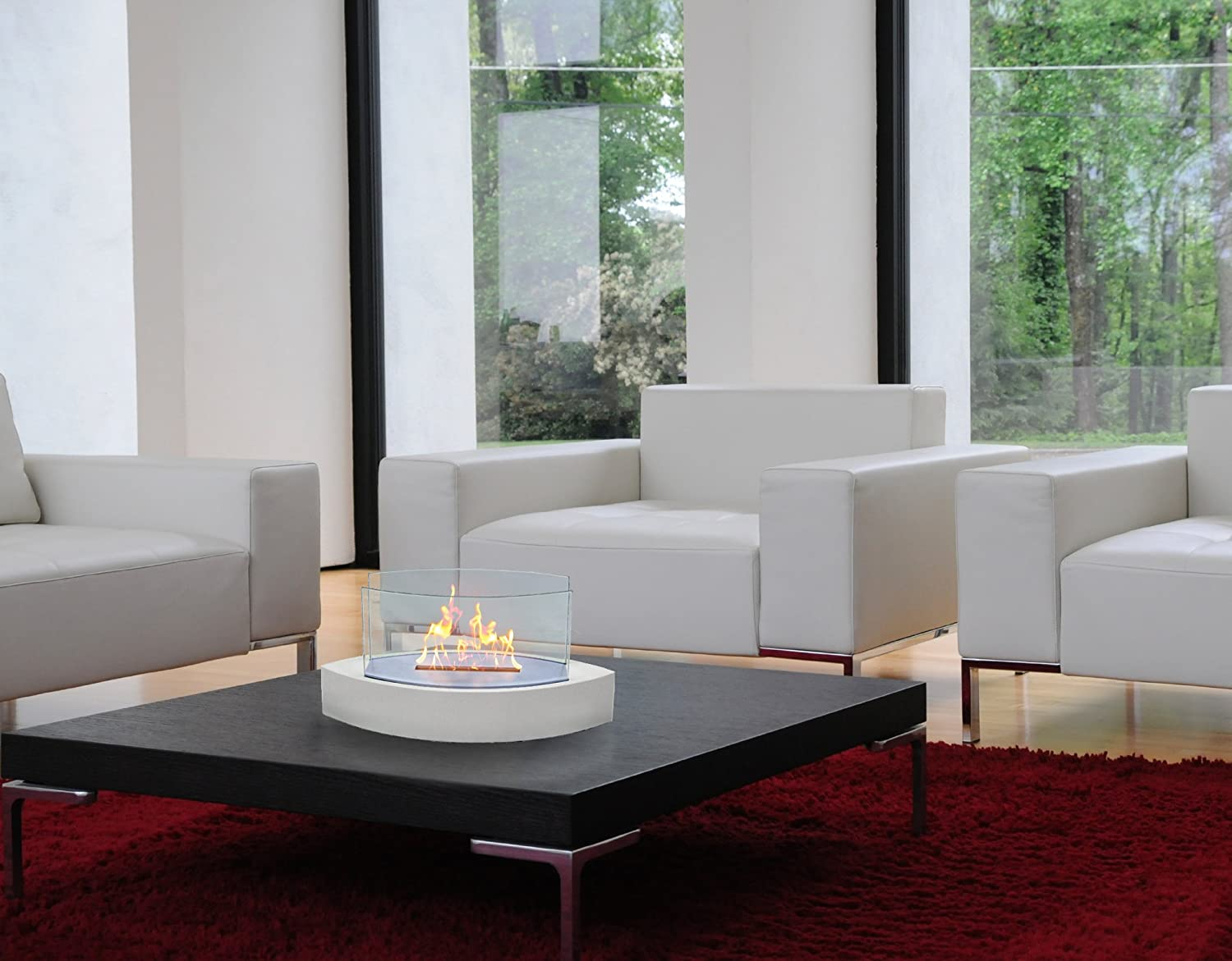 Amazon.com: Anywhere Fireplace   Lexington Tabletop Ethanol Fireplace: Home  U0026 Kitchen