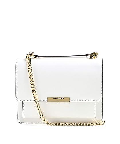 0850d7ce3830 MICHAEL Michael Kors Women s Leather Jade Shoulder Bag One Size White