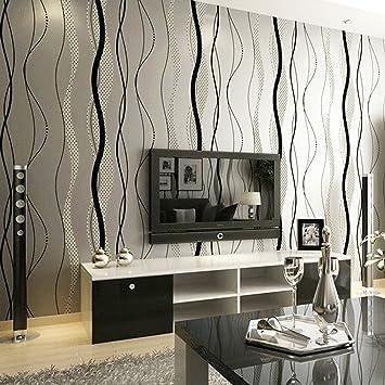 Fashion Minimalist Geometric Lines Wavy Background Wallpaper Living Room TV W